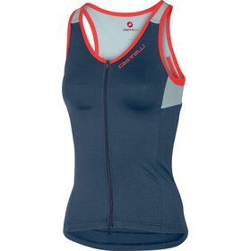 Castelli Solare Top sin Mangas Mujer, dark steel blue/winter sky